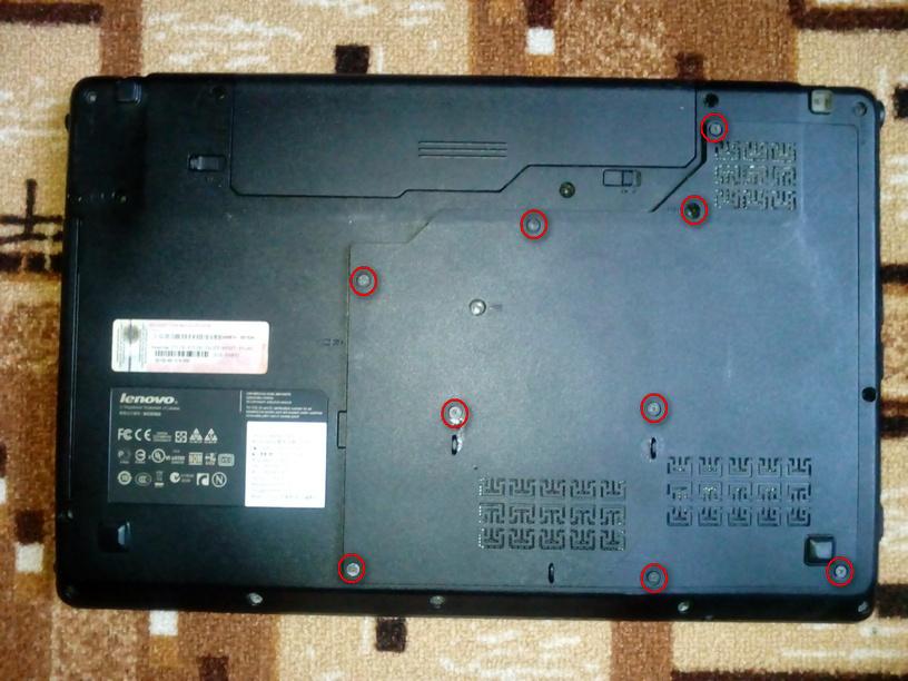 Разборка Lenovo idea Pad z565